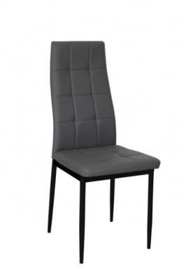 Chaise en PU gris fournie