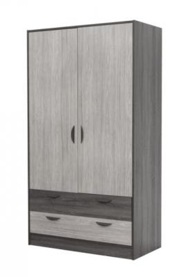 Garde-robe 2 portes et 2 tiroirs