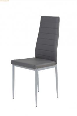 Chaise en PU gris