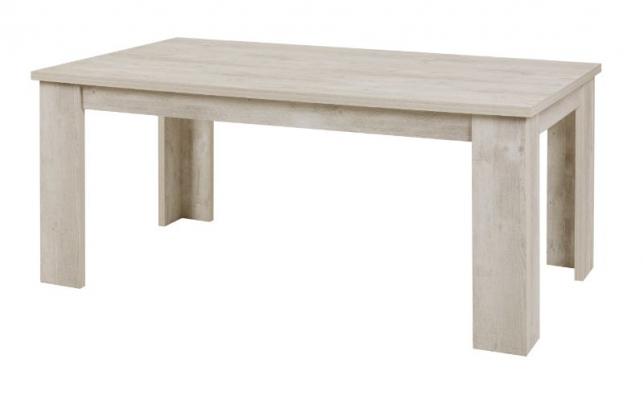 Table avec pieds droits