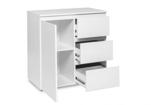 Porte et tiroirs ouverts