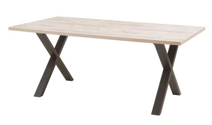 Table avec pieds métal en X