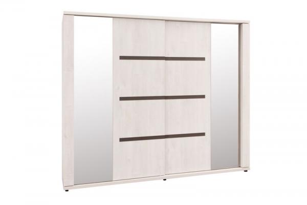 Garde-robe 2 portes coulissantes avec 2 miroirs