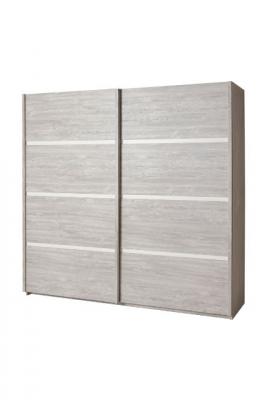 Garde-robe 2 portes coulissantes (220 x 215 x 67 cm)