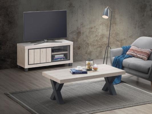 Meuble TV 1 porte ( 120 x h55 x 45 cm)