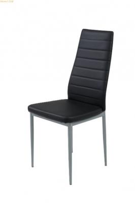 Chaise en PU noir